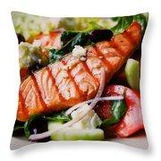 Salmon Salad Throw Pillow