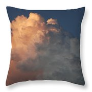 Salmon Sky Throw Pillow