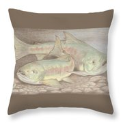 Salmon Spawn Throw Pillow