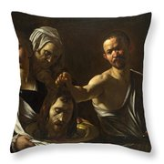 Salome Receives The Head Of Saint John The Baptist Throw Pillow
