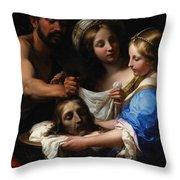 Salome With The Head Of Saint John The Baptist Throw Pillow by Onorio Marinari