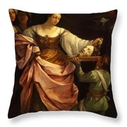 Salome With The Head Of St John Baptist 1640 Throw Pillow
