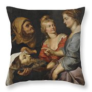 Salome With The Head Of St. John The Baptist Throw Pillow