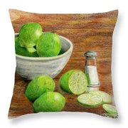 Salt And Lime Throw Pillow