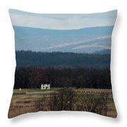 Salt Box House Throw Pillow