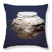 salt cristal at the Dead Sea Israel  Throw Pillow