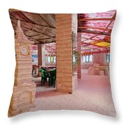 Salt Hotel, Salar De Uyuni, Bolivia Throw Pillow