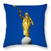 Salt Lake City Angel Moroni 2015 Throw Pillow
