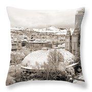 Salt Lake City Landmarks Throw Pillow