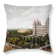 Salt Lake City Throw Pillow