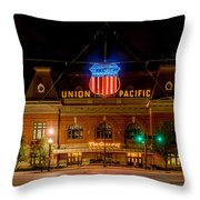 Salt Lake City Union Pacific Depot Throw Pillow