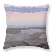 Salt Lake Sunset Throw Pillow