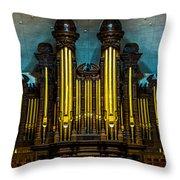 Salt Lake Tabernacle Organ Throw Pillow