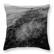 Salt Lake Walk  Throw Pillow