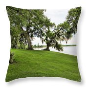 Salt Mine Reminder Accident  Louisiana  Throw Pillow