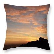 Salt Point Sunset Throw Pillow