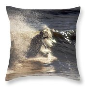 Salt Spray Surfing Throw Pillow