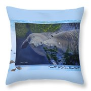 Salt Water Ballet - Manatees - 2 Throw Pillow
