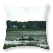 Salt Water Marsh Throw Pillow