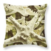 Salt Water Stars Throw Pillow