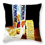 Saltine Crackers Throw Pillow