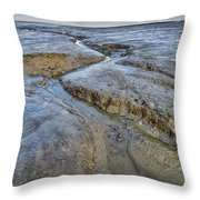 Saltings Channel Throw Pillow