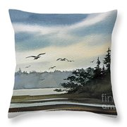 Saltwater Bay Throw Pillow
