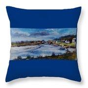 Saltwater Village Riverside Throw Pillow