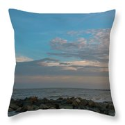 Salty Air Over Breach Inlet Throw Pillow
