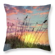 Salty Breeze On The Dunes Throw Pillow