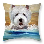 Salty Dawg Throw Pillow