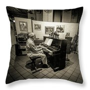 Saluda Piano Man Throw Pillow