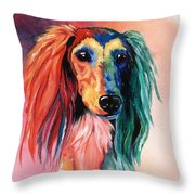 Saluki Sunset Throw Pillow