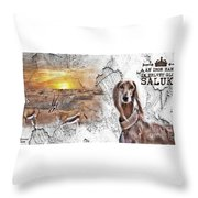 Saluki - The One And Only Throw Pillow