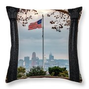 Salute To Cincinnati Throw Pillow