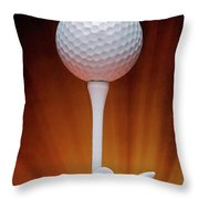 Salute To Golf Throw Pillow