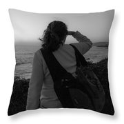 Salute To The Coastline Throw Pillow