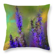 Salvia May Night Art -purple Modern Abstract Art Throw Pillow