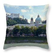 Salzburg City View Five Throw Pillow