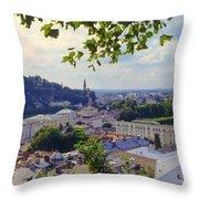 Salzburg City View Four Throw Pillow