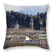 Salzburg City View Three Throw Pillow