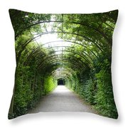 Salzburg Garden Arbor Throw Pillow