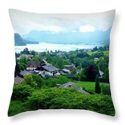 Salzburg Lake District Throw Pillow