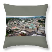 Salzburg Panoramic Throw Pillow