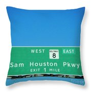 Sam Houston Pkway Throw Pillow