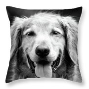 Sam Smiling Throw Pillow