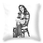 Samantha Jonice Elliott Throw Pillow by Murphy Elliott