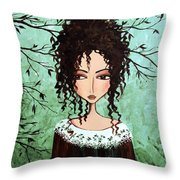 Samantha's Chocolate Tree Throw Pillow