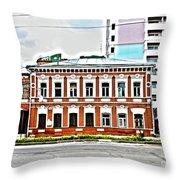 Samara Houses Throw Pillow