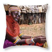 Samburu Beauty Throw Pillow